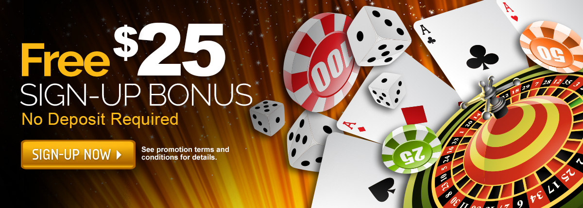 Live casino sign up bonus