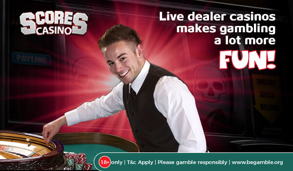 Live dealer casinos makes gambling a lot more fun!